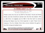 2012 Topps Update #118  David Freese  Back Thumbnail
