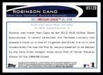 2012 Topps Update #120  Robinson Cano  Back Thumbnail