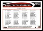 2012 Topps Update #123  Jamie Moyer  Back Thumbnail
