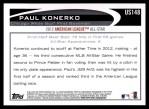 2012 Topps Update #148  Paul Konerko  Back Thumbnail