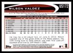 2012 Topps Update #172  Wilson Valdez  Back Thumbnail