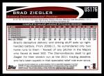 2012 Topps Update #176  Brad Ziegler  Back Thumbnail