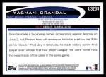 2012 Topps Update #209  Yasmani Grandal  Back Thumbnail