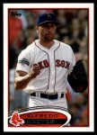 2012 Topps Update #218  Alfredo Aceves  Front Thumbnail