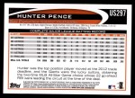 2012 Topps Update #297  Hunter Pence  Back Thumbnail