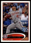 2012 Topps Update #326  Gio Gonzalez  Front Thumbnail