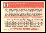 1952 Topps REPRINT #50  Marv Rickert  Back Thumbnail