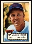 1952 Topps REPRINT #324  Warren Hacker  Front Thumbnail