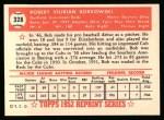 1952 Topps REPRINT #328  Bob Borkowski  Back Thumbnail
