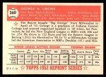 1952 Topps REPRINT #360  George Crowe  Back Thumbnail