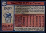 1974 Topps #143  Walt Wesley  Back Thumbnail