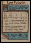 1977 Topps #94  Lee Fogolin  Back Thumbnail