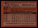 1982 Topps Traded #68 T Lee Mazzilli  Back Thumbnail
