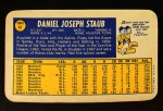 1970 Topps Super #41  Rusty Staub  Back Thumbnail