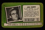 1971 Topps Super #61  Joe Torre  Back Thumbnail