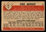 1953 Bowman #71  Paul Minner  Back Thumbnail