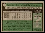 1979 Topps #589  Terry Whitfield  Back Thumbnail