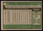 1979 Topps #567  Richie Hebner  Back Thumbnail