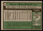1979 Topps #496  Barry Bonnell  Back Thumbnail
