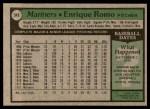 1979 Topps #548  Enrique Romo  Back Thumbnail
