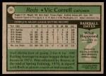 1979 Topps #281  Vic Correll  Back Thumbnail