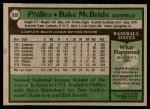 1979 Topps #630  Bake McBride  Back Thumbnail