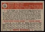 1952 Topps #246  George Kell  Back Thumbnail