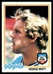 1978 Topps #100  George Brett  Front Thumbnail