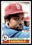 1979 Topps #175  George Hendrick  Front Thumbnail