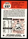 1953 Topps Archives #327  Duke Snider  Back Thumbnail