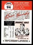 1953 Topps Archives #94  Bill Kennedy  Back Thumbnail
