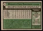 1979 Topps #303  Lary Sorensen  Back Thumbnail