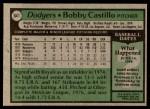 1979 Topps #641  Bobby Castillo  Back Thumbnail