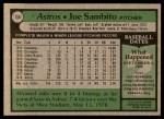 1979 Topps #158  Joe Sambito  Back Thumbnail