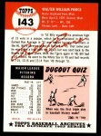 1953 Topps Archives #143  Billy Pierce  Back Thumbnail