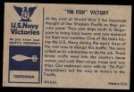 1954 Bowman U.S. Navy Victories #42   Tin Fish Victory Back Thumbnail