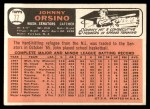 1966 Topps #77  John Orsino  Back Thumbnail
