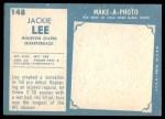 1961 Topps #148  Jacky Lee  Back Thumbnail