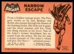 1966 Topps Batman Black Bat #21   Narrow Escape Back Thumbnail