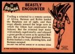 1966 Topps Batman Black Bat #50   Beastly Encounter Back Thumbnail