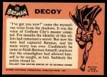 1966 Topps Batman Black Bat #49   Decoy Back Thumbnail