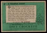 1956 Topps Davy Crockett Green Back #8   Fearful Sight  Back Thumbnail