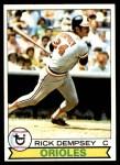 1979 Topps #593  Rick Dempsey  Front Thumbnail