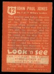 1952 Topps Look 'N See #42  John Paul Jones  Back Thumbnail