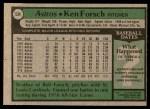 1979 Topps #534  Ken Forsch  Back Thumbnail