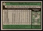 1979 Topps #286  Duffy Dyer  Back Thumbnail