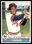 1979 Topps #274  Willie Norwood  Front Thumbnail