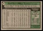 1979 Topps #185  Mike Torrez  Back Thumbnail