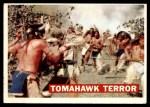1956 Topps Davy Crockett Orange Back #17   -     Tomahawk Terror  Front Thumbnail
