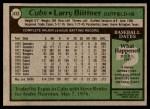 1979 Topps #433  Larry Biittner  Back Thumbnail